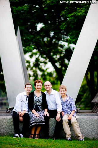 Family session at Rod Fai Park in Bangkok, Thailand.