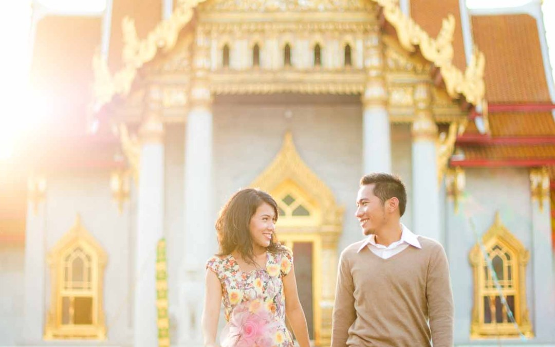 Pre-Wedding at Marble Temple of couple from Indonesia | Preview
