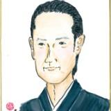 能楽師 大倉正之助氏イラスト