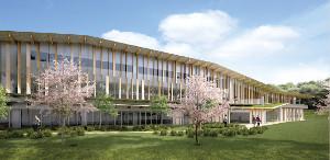 2019年10月に完成予定の新校舎(東京都町田市)