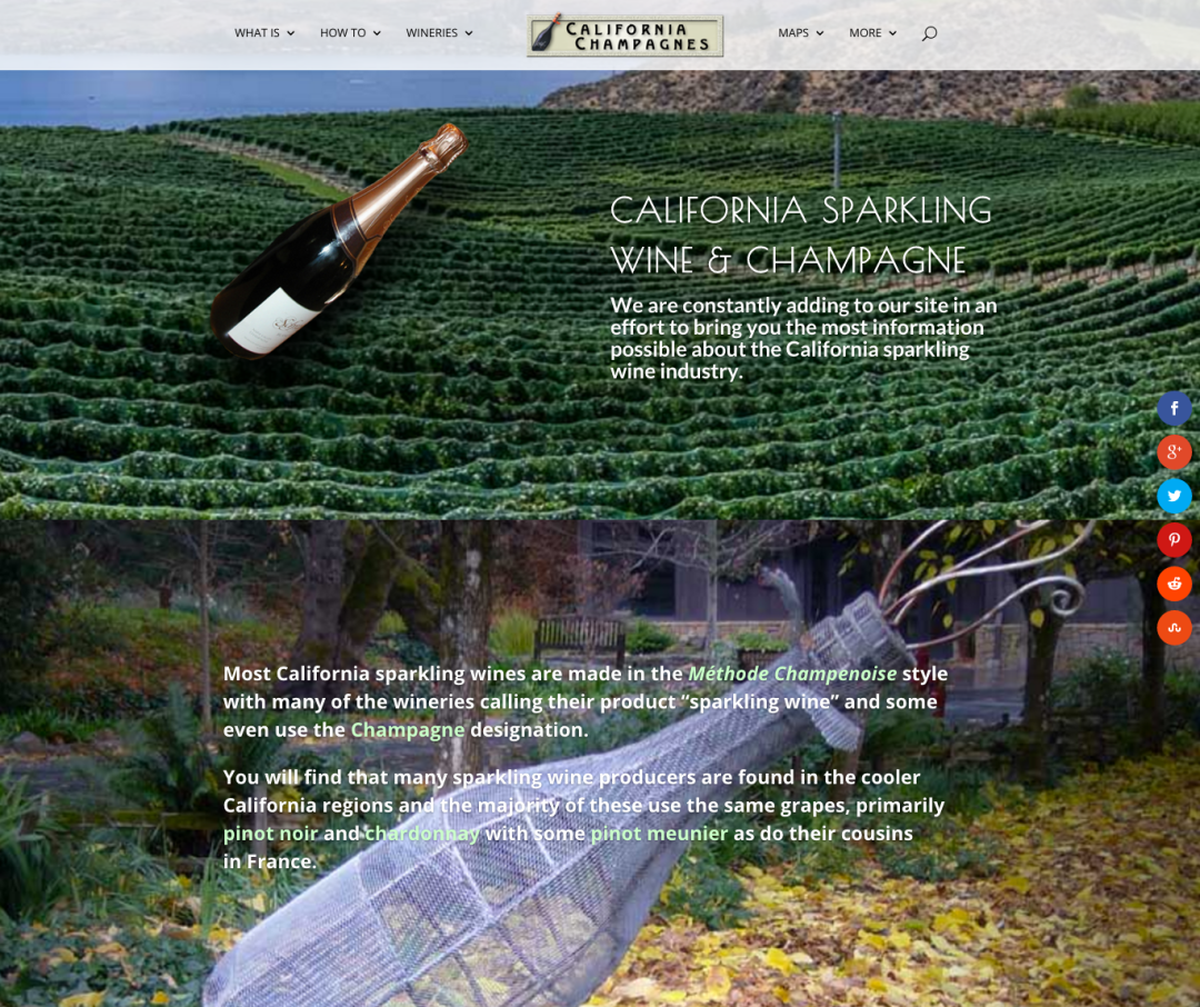 California Champagnes Website