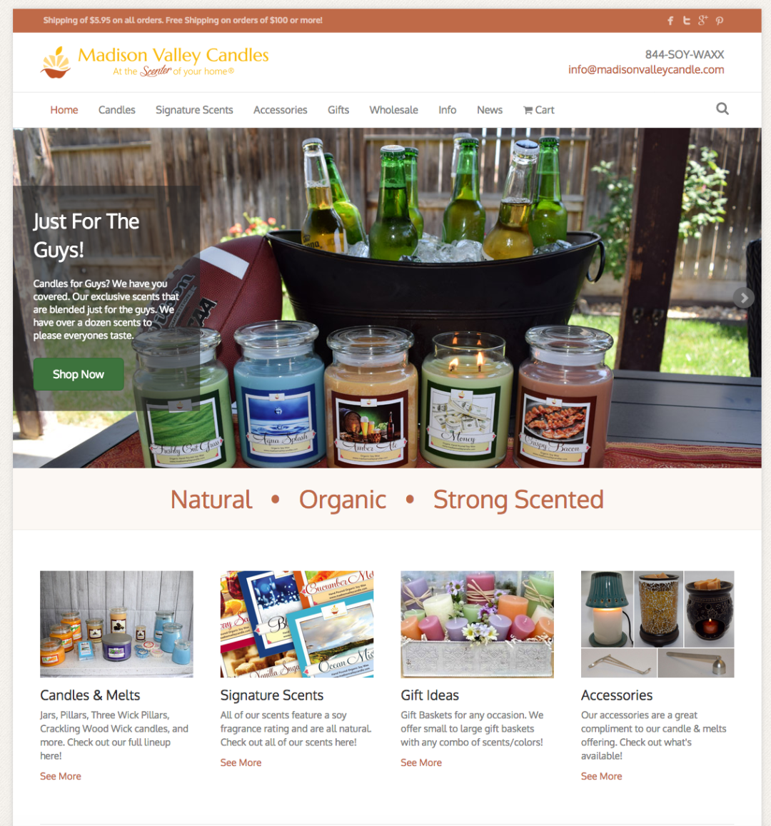 Madison Valley Candle Company Website