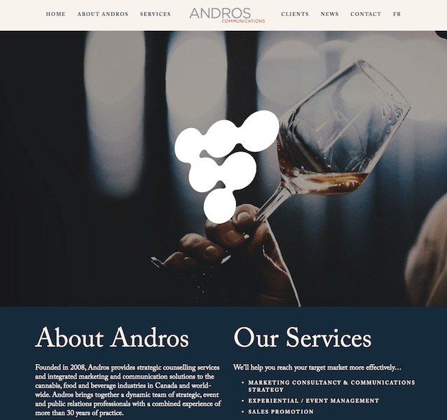 Andros Communications Website