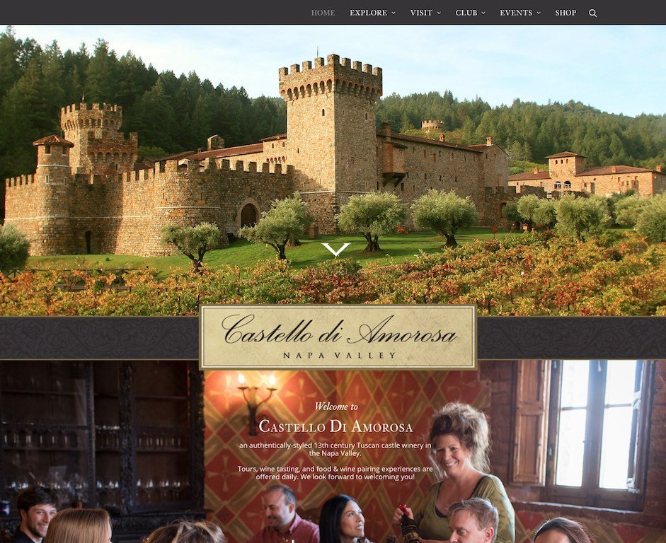 Castello Di Amorosa Website