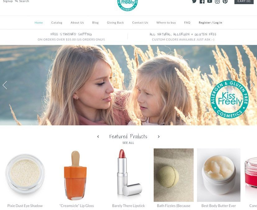 Kiss Freely, Allergen & Gluten Free Cosmetics
