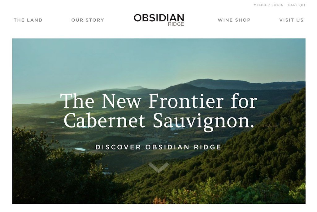 Obsidian Ridge Winery Website