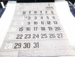 【レビュー】100均 セリア【A3壁掛けカレンダー 木目】見せるためのインテリアカレンダーですね