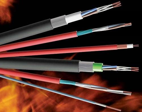 atsparūs ugniai behalogeniniai kabeliai