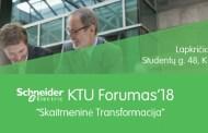 """Schneider Electric KTU Forumas'18 """"Skaitmeninė Transformacija"""""""