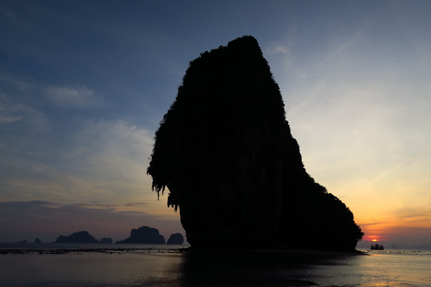 Beautiful sunset in Railay Beach