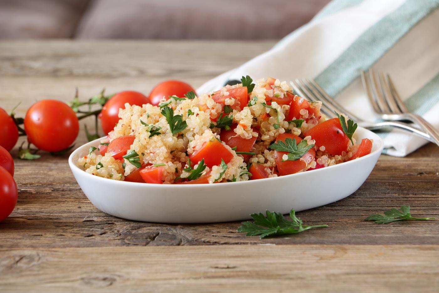 Tomato Radishes Quinoa Salad