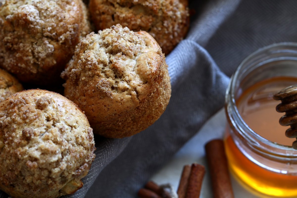 Dairy free apple cinnamon muffins