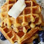 Cornmeal greek yogurt waffles