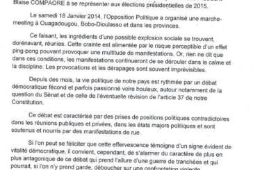 Situation politique nationale: Déclaration de l'ancien président Jean Baptiste Ouédraogo, du Monseigneur Paul Ouédraogo, du Pasteur Samuel Yaméogo et de El Hadj Mama Sanou pour une transition démocratique apaisée acceptée par tous
