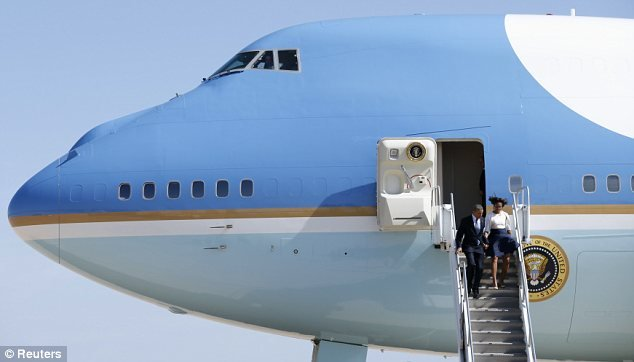 Occasion: The couple are visiting Austin to tour the LBJ Presidential Library, as well as attend commemoration ceremonies for the 50th anniversary of the Civil Rights Act