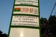 Burkina : nouvelle configuration de l'opposition se dessine