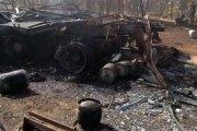 OUAGADOUGOU : EXPLOSION D'UN CAMION REMPLI DE BOUTEILLES DE GAZ