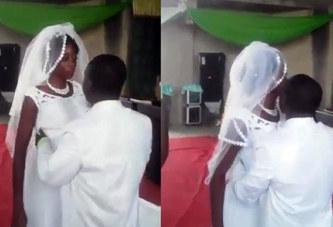 Ghana : Une mariée en colère refuse d'embrasser son mari