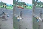 (Vidéo) Impressionnant... ! Une camera filme un accident mortel et l'âme de l'accidenté sortant de son corps