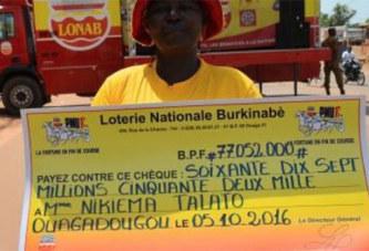 LONAB: une femme empoche 77 millions de FCFA au PMU'B grâce à son fils