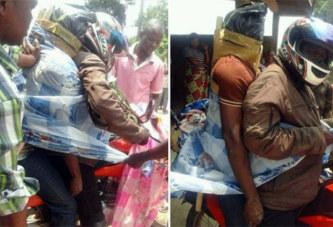 (Photos) Incroyable : On transporte des cadavres à moto au Congo