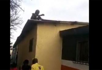 Côte d'Ivoire: Vidéo, une veille femme atterrit sur le toit d'une maison à Cocody-Angré