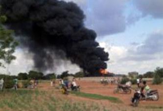 Mogtédo: un minibus et 60 fûts de carburant consumés dans un incendie