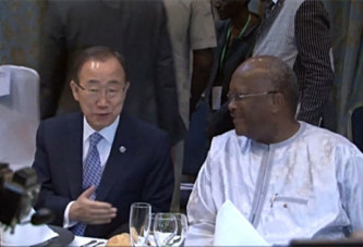 Diplomatie:  Ban Ki-Moon salue la franche collaboration du Burkina Faso avec les Nations Unies
