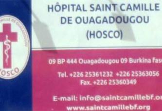 Hôpital Saint Camille de Ouagadougou(HOSCO) : désormais la consultation en médecine générale 24 h/24