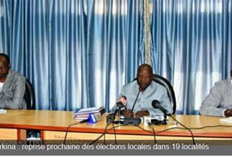 Burkina : reprise prochaine des élections locales dans 19 localités