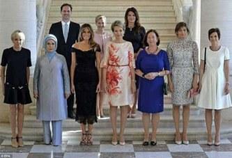 Sommet de l'OTAN : Un « Premier homme » pose avec les Premières dames des pays membres