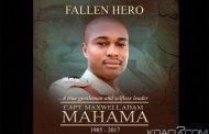 Ghana: La «fausse alerte» qui a couté la vie au Capitaine Mahama, programme des obsèques