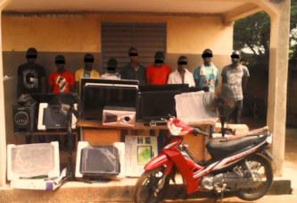 """Cambriolage à Ouagadougou : 9 """"jeunes"""" présumés cambrioleurs tenaillés par la Police Nationale"""