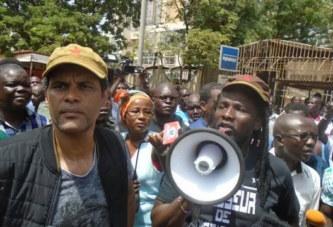 Mécontent de la libération de Djibril Bassolé, des leaders d'OSC prennent d'assaut la place de la Nation
