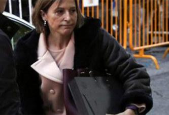 La présidente du parlement catalan a passé la nuit en prison
