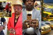 Un riche kényan s'offre des voitures, téléphones en or et ne boit que du vin en or (photos)