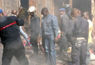 Incendie au grand marché de Bamako
