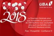 Les vœux de UBA Burkina pour 2018