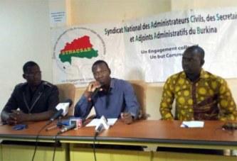Burkina : l'Administration générale en sit-in suivi de grève du 29 janvier au 2 février