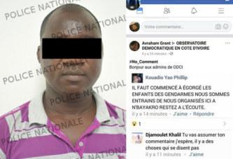 Côte d'Ivoire: Pour avoir appelé sur facebook » à égorger les enfants des gendarme», il risque 20 ans de prison