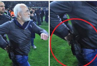 Grèce: Le président du PAOK rentre sur le terrain armé d'un pistolet
