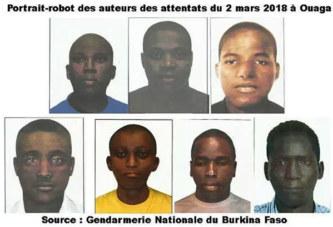 Attentats du 2 mars 2018 à Ouagadougou: Le portrait-robot des auteurs dévoilé