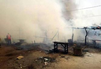 Incendie au marché de Tougouri( Centre-Nord) : Plus de 30 boutiques et hangars détruits par les flammes