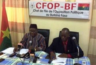 Situation nationale: «Ce gouvernement est incapable de gérer le Burkina Faso» selon l'opposition