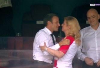 Cette image de Macron et de la Présidente de la Croatie qui fâche Brigitte