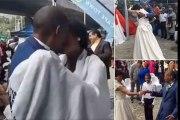 Afrique du Sud : deux sans abri se marient sous le pont d'une autoroute