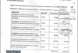 Procès putsch manqué: Voici la facture qui jette le discrédit sur la justice militaire