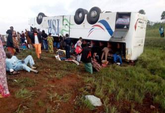 Côte d'Ivoire :Un car de la compagnie TSR se renverse, plusieurs blessés
