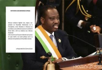 Côte d'Ivoire : Une semaine après sa démission de la présidence de l'Assemblée Nationale, Soro veut évoquer son avenir politique avec la presse