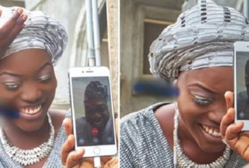 Insolite: Une Nigériane épouse son fiancé basée aux États-Unis via un appel vidéo